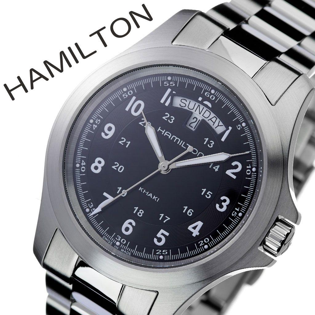 check out f92e6 647a0 ブラック メンズ KHAKI カーキ 時計 HAMILTON 腕時計 ハミルトン ...