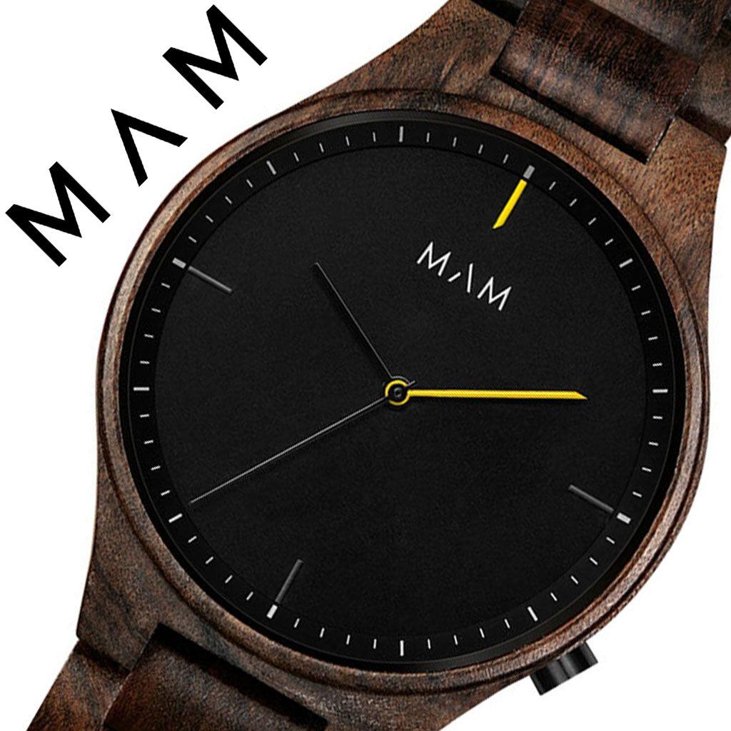 マム 腕時計 MAM 時計 マム時計 マム腕時計 ボルカーノ VOLCANO メンズ レディース ブラック MAM611 [ 正規品 人気 ブランド お洒落 シンプル 大人 個性的 カジュアル プレゼント 木 天然 木製 ウッド ミニマル デザイン デザイナーズ ファッション ]
