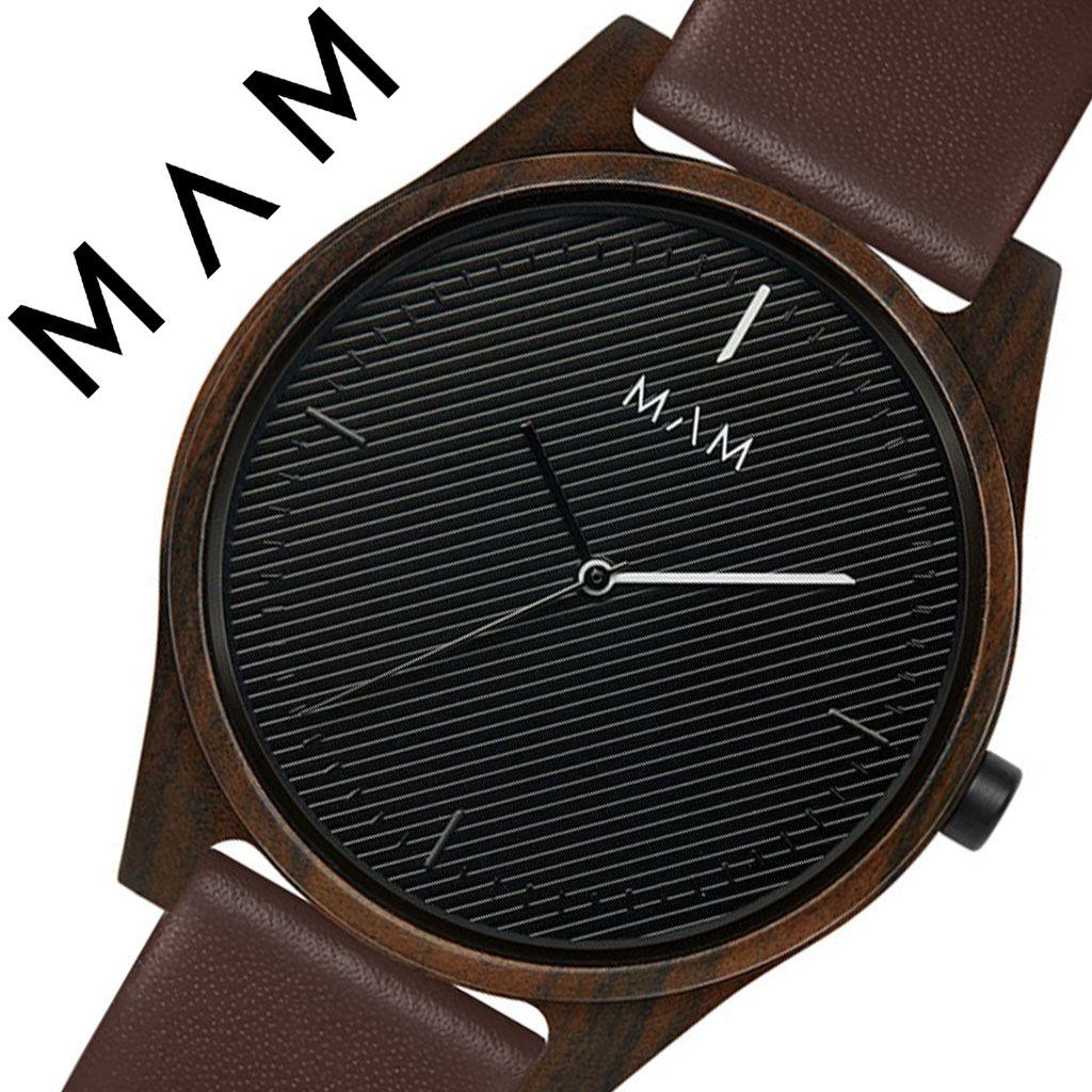 マム 腕時計 MAM 時計 マム時計 マム腕時計 アレノ ARENO メンズ レディース ブラック MAM620 [ 正規品 人気 ブランド 革 レザー 革ベルト おしゃれ お洒落 シンプル 大人 個性的 カジュアル プレゼント 木 天然 木製 ウッド ミニマル デザイン デザイナーズ ファッション ]