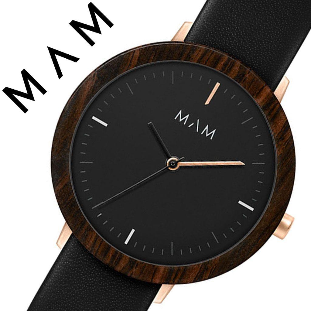 マム 腕時計 MAM 時計 マム時計 マム腕時計 フェラ FERRA レディース ブラック MAM634 [ 正規品 人気 ブランド 革ベルト レザー おしゃれ シンプル 大人 可愛い かわいい 個性的 カジュアル プレゼント 木 天然 木製 ウッド ミニマル デザイン デザイナーズ ファッション]