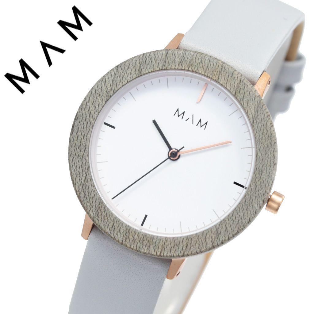 マム 腕時計 MAM 時計 マム時計 マム腕時計 フェラ FERRA レディース ホワイト MAM640 [ 正規品 人気 ブランド 革ベルト レザー おしゃれ シンプル 大人 可愛い かわいい 個性的 カジュアル プレゼント 木 天然 木製 ウッド ミニマル デザイン デザイナーズ ファッション]