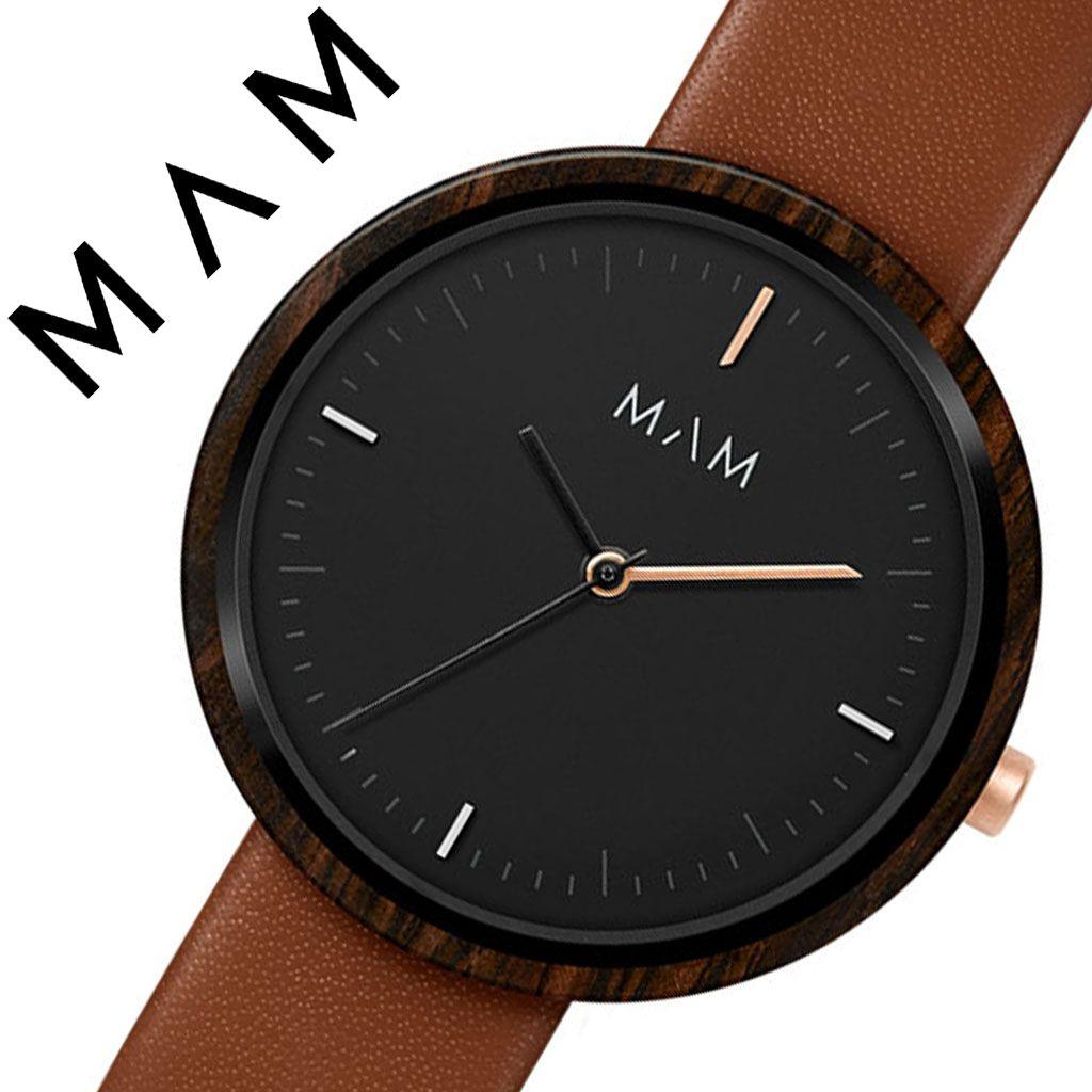 マム 腕時計 MAM 時計 マム時計 マム腕時計 プラノ PLANO レディース ブラック MAM654 [ 正規品 人気 ブランド 革ベルト レザー おしゃれ シンプル 大人 可愛い かわいい 個性的 カジュアル プレゼント 木 天然 木製 ウッド ミニマル デザイン デザイナーズ ファッション ]