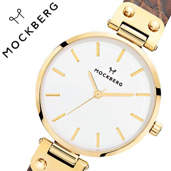 [当日出荷] モックバーグ 腕時計 MOCKBERG 時計 Original レディース ホワイト MO125 [ 正規品 人気 ブランド 女性用 彼女 妻 嫁 上品 かわいい 薄型 アクセサリー シンプル 革 ゴールド プレゼント ギフト ]送料無料