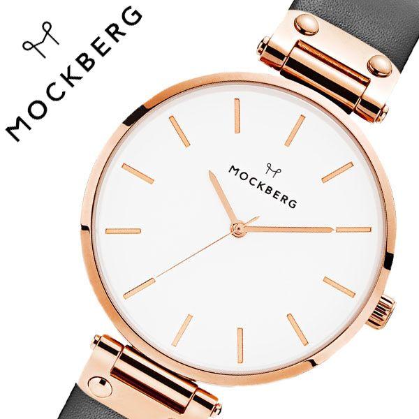 [当日出荷] モックバーグ 腕時計 MOCKBERG 時計 Original レディース ホワイト MO509 [ 正規品 人気 ブランド 女性用 彼女 妻 嫁 上品 かわいい 薄型 アクセサリー シンプル 革 ローズゴールド プレゼント ギフト ]送料無料