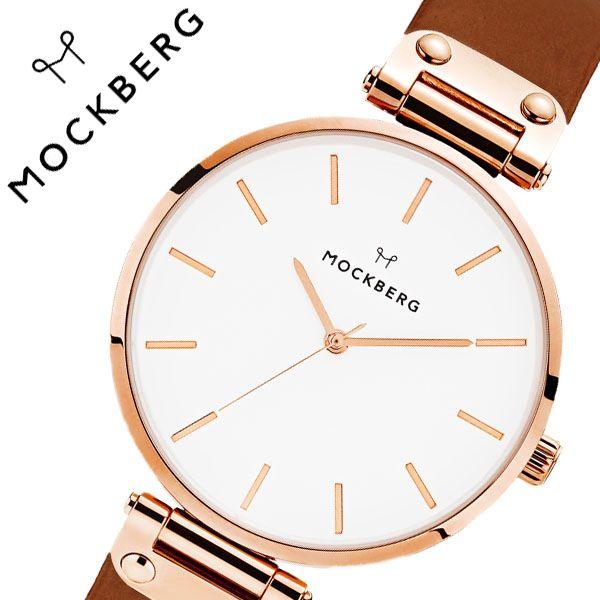 [当日出荷] モックバーグ 腕時計 MOCKBERG 時計 Origianl レディース ホワイト MO512 [ 正規品 人気 ブランド 女性用 彼女 妻 嫁 上品 かわいい 薄型 アクセサリー シンプル 革 ローズゴールド プレゼント ギフト ]送料無料