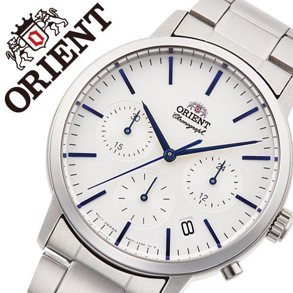 【5年保証対象】オリエント 腕時計 ORIENT 時計 オリエント 時計 ORIENT 腕時計 コンテンポラリー クォーツ CONTEMPORARY メンズ ホワイト RN-KV0302S 正規品 ブランド ビジネス 日付カレンダー クロノグラフ メタル ホワイト 男性 彼氏 夫 プレゼント ギフト 送料無料