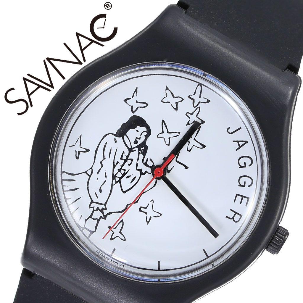 [当日出荷] サブナック 腕時計 SAVNAC 時計 クリストファー ブラウン ミック CHRISTOPHER BROWN MICK メンズ レディース ホワイト JAG01 [ 正規品 人気 ブランド おしゃれ 個性的 個性派 カジュアル キュート ポップ アート ミュージシャン ラバー ペアウォッチ ]