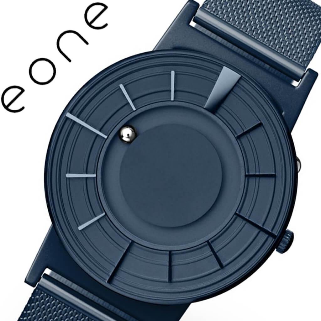 イーワン 腕時計 EONE 時計 イーワン 時計 EONE 腕時計 ブラッドリー メッシュ Bradley Edge Cobalt 盲人 盲目 視覚障害者 にもおすすめ ネイビー BR-EDGE-MESH [ 人気 おすすめ ビジネス スーツ シンプル ミニマル シック 個性的 カジュアル ファッション ギフト ]送料無料