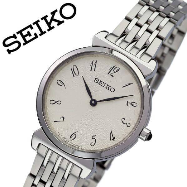 セイコー 腕時計 SEIKO 時計 セイコー時計 SEIKO腕時計 レディース ホワイト SFQ801P1 人気 ブランド ラウンド アナログ 彼女 妻 嫁 逆輸入 海外限定 逆輸入 海外 海外セイコー 定番 おしゃれ ファッション シンプル フォーマル オフィスカジュアル 仕事 プレゼント ギフト