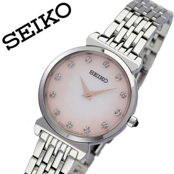セイコー 腕時計 SEIKO 時計 セイコー時計 SEIKO腕時計 レディース ピンク SFQ803P1 人気 ブランド ラウンド アナログ 彼女 妻 嫁 逆輸入 海外限定 逆輸入 海外 海外セイコー 定番 おしゃれ ファッション シンプル フォーマル オフィスカジュアル 仕事 プレゼント ギフト