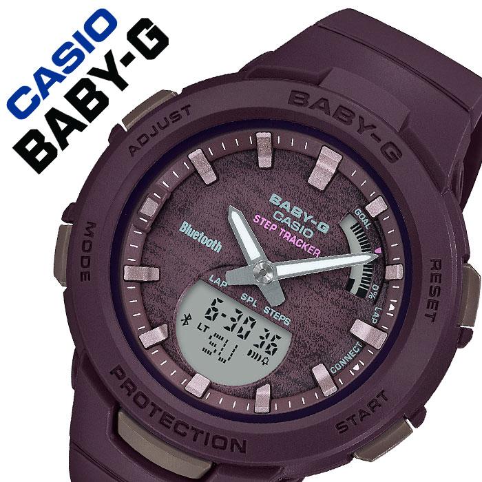 【5年保証対象】カシオ 腕時計 CASIO 時計 カシオ時計 CASIO腕時計 ベイビーG ジースクワッド BABY-G G-SQUAD レディース レッド BSA-B100AC-5AJF [ 人気 定番 ブランド 防水 ファッション おしゃれ カジュアル アウトドア スポーツ ベビーG デジタル アナデジ Bluetooth ]