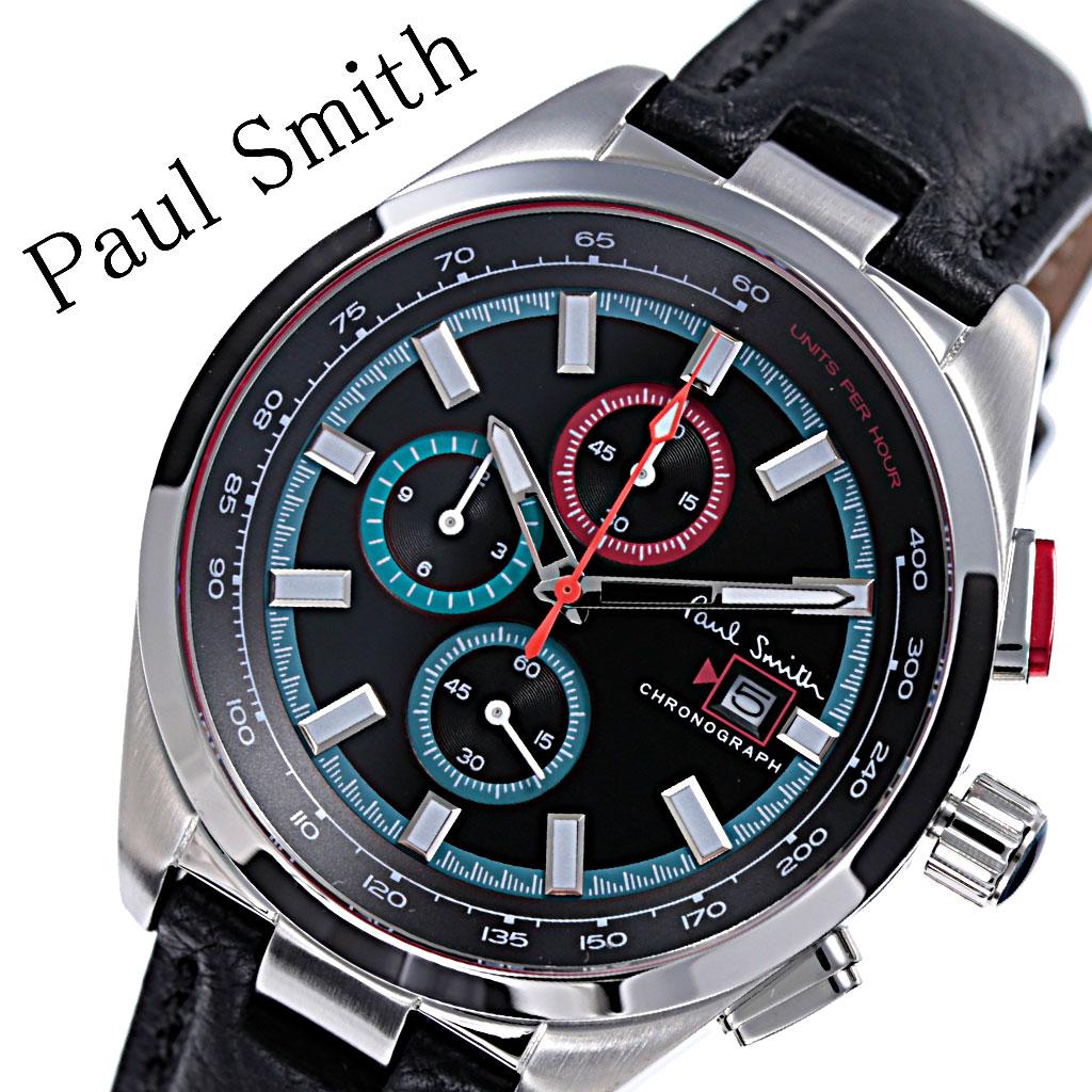 ポールスミス 腕時計 Paulsmith 時計 ポール スミス 時計 Paul smith 腕時計 メンズ ブラック PS0110011 人気 ブランド おすすめ 防水 レザー ベルト カジュアル シンプル 上品 クラシカル オシャレ クロノグラフ スーツ 仕事 オフィスカジュアル プレゼント 父の日 ギフト
