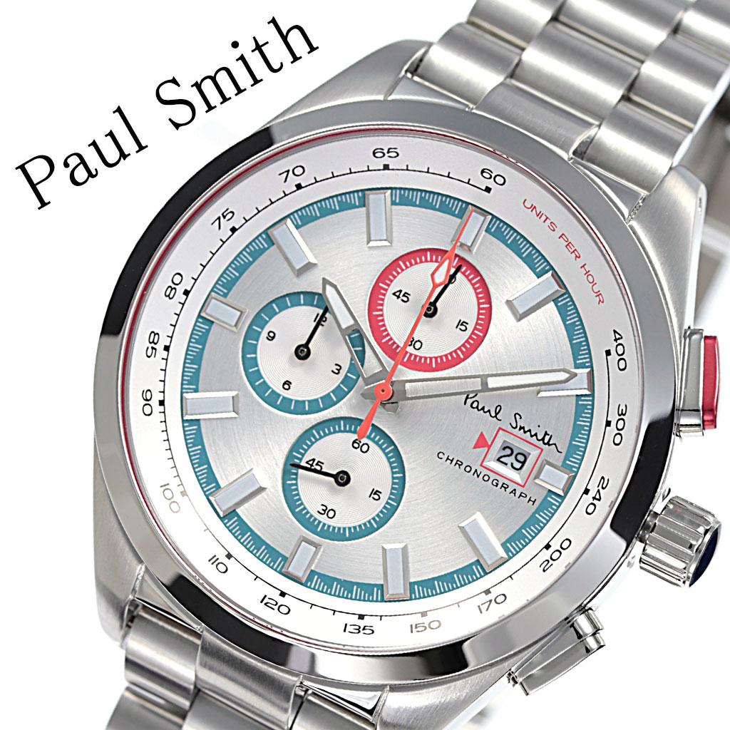 ポールスミス 腕時計 Paulsmith 時計 ポール スミス 時計 Paul smith 腕時計 メンズ シルバー PS0110018 人気 ブランド おすすめ 防水 ステンレス ベルト カジュアル シンプル 上品 クラシカル オシャレ クロノグラフ スーツ 仕事 オフィスカジュアル プレゼント 父の日