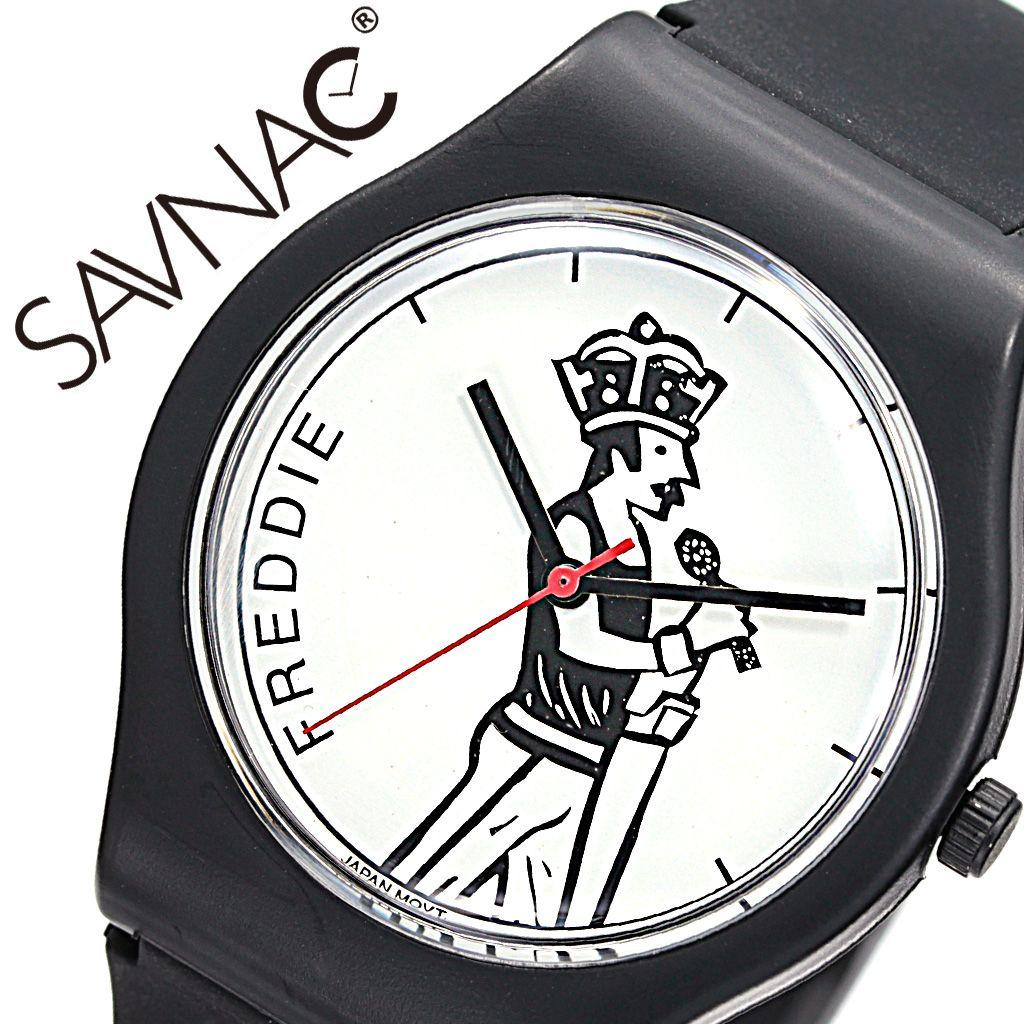 サブナック 腕時計 SAVNAC 時計 サブナック 時計 SAVNAC 腕時計 クリストファー ブラウン フレディー CHRISTOPHETR BROWN FREDDIE メンズ レディース ホワイト FRE01 [正規品 人気 ブランド オシャレ シンプル 可愛い カジュアル 個性的 ユニーク フェス おすすめ イラスト ]