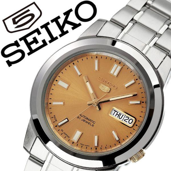 セイコー 腕時計 SEIKO 時計 セイコー時計 SEIKO腕時計 セイコーファイブ SEIKO5 メンズ ゴールド SNKK13J1 人気 ブランド 旦那 夫 彼氏 逆輸入 定番 機械式 自動巻き 日本製 おしゃれ ファッション シンプル フォーマル スーツ 営業 仕事 商社 プレゼント 父の日 ギフト