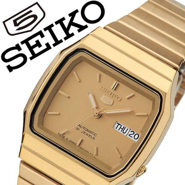 セイコー 腕時計 SEIKO 時計 セイコー時計 SEIKO腕時計 セイコーファイブ SEIKO5 メンズ ゴールド SNXK90J1 人気 ブランド 旦那 夫 彼氏 逆輸入 定番 機械式 自動巻き 日本製 おしゃれ ファッション シンプル フォーマル スーツ 営業 仕事 商社 プレゼント 父の日 ギフト