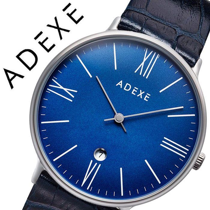 アデクス 腕時計 ADEXE 時計 アデクス時計 ADEXE腕時計 グランデ GRANDE メンズ ネイビー 1890B-05-JP19JN [ 正規品 人気 ブランド 流行 インスタ インスタ映え オシャレ ファッション お揃い ペア おそろい 北欧 上品 シンプル ドーム プチプラ スーツ プレゼント ギフト ]