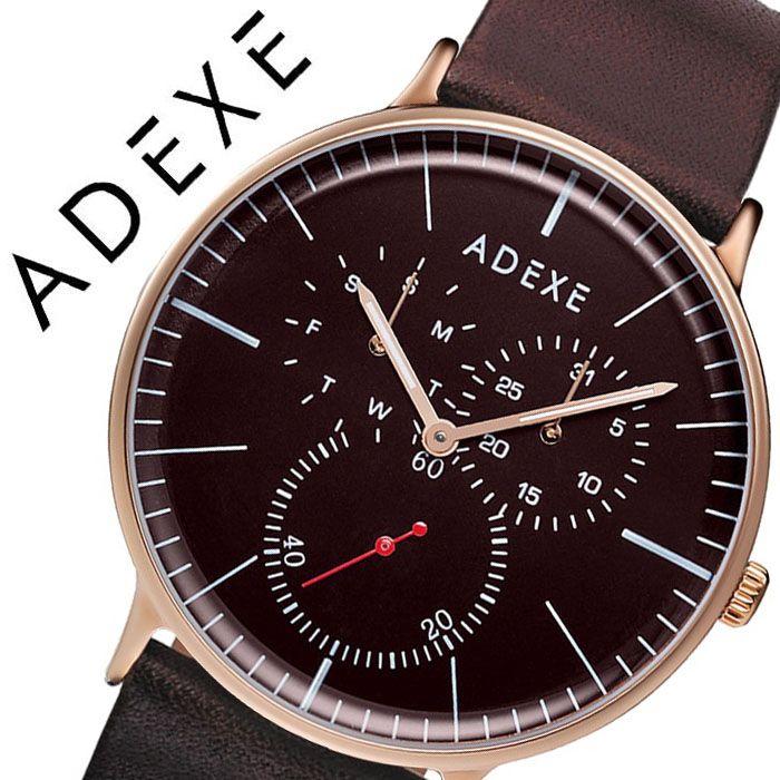 アデクス 腕時計 ADEXE 時計 アデクス時計 ADEXE腕時計 グランデ GRANDE メンズ ブラウン 1868A-T02 [ 正規品 人気 ブランド 流行 インスタ インスタ映え オシャレ ファッション お揃い ペア おそろい 北欧 上品 シンプル クロノグラフ プチプラ スーツ プレゼント ギフト ]