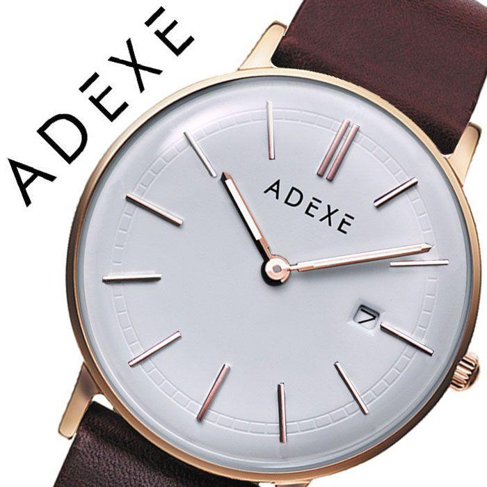 アデクス 腕時計 ADEXE 時計 アデクス時計 ADEXE腕時計 グランデ GRANDE メンズ ホワイト 2046A-T01 [ 正規品 人気 ブランド 流行 インスタ インスタ映え オシャレ ファッション お揃い ペア おそろい 北欧 上品 シンプル ドーム 風防 プチプラ スーツ プレゼント ギフト ]