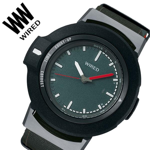 【5年保証対象】セイコー 腕時計 SEIKO 時計 セイコー時計 SEIKO腕時計 ワイアード ツーダブ WIRED WW TYPE01 ON メンズ ブラック AGAB405 [ 人気 正規品 新作 ブランド 防水 ファッション おしゃれ デザイン スマートフォン連動 カジュアル Bluetooth 高機能 プレゼント ]