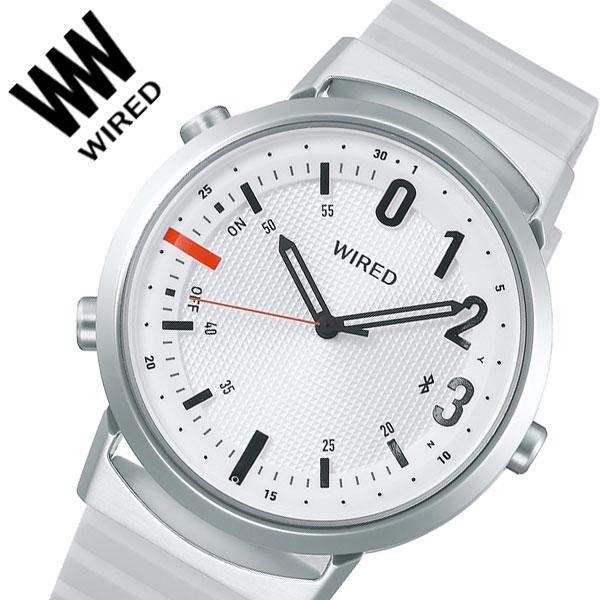 【5年保証対象】セイコー 腕時計 SEIKO 時計 セイコー時計 SEIKO腕時計 ワイアード ツーダブ WIRED WW TYPE02 NUMBER メンズ ホワイト AGAB407 [ 人気 正規品 新作 ブランド 防水 ファッション おしゃれ デザイン スマートフォン連動 カジュアル Bluetooth 高機能 ギフト ]