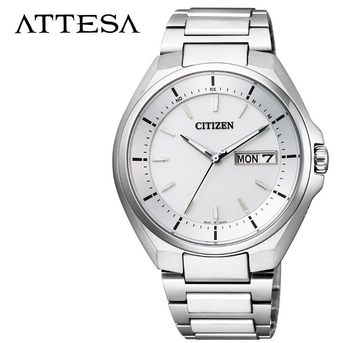【5年保証対象】シチズン 腕時計 CITIZEN 時計 アテッサ ATTESA メンズ シルバー AT6050-54A 人気 正規品 ブランド おすすめ 防水 パーフェックス搭載 高機能 ソーラー おしゃれ カジュアル スーツ ビジネス プレゼント ギフト 送料無料
