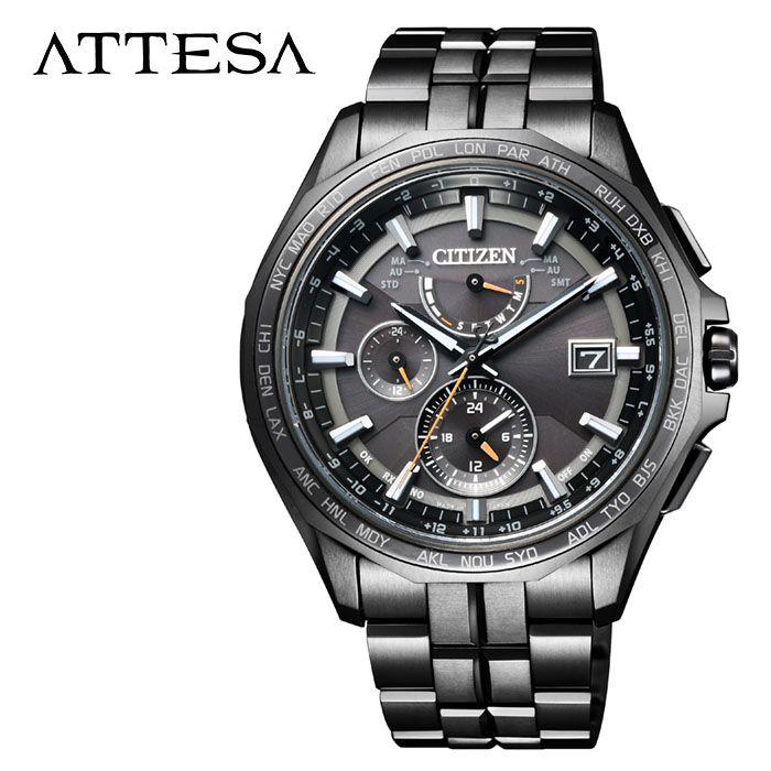 【5年保証対象】シチズン 腕時計 CITIZEN 時計 アテッサ ATTESA メンズ ブラック AT9097-54E 人気 正規品 ブランド おすすめ 防水 パーフェックスマルチ搭載 高機能 ソーラー おしゃれ カジュアル スーツ ビジネス プレゼント 父の日 ギフト