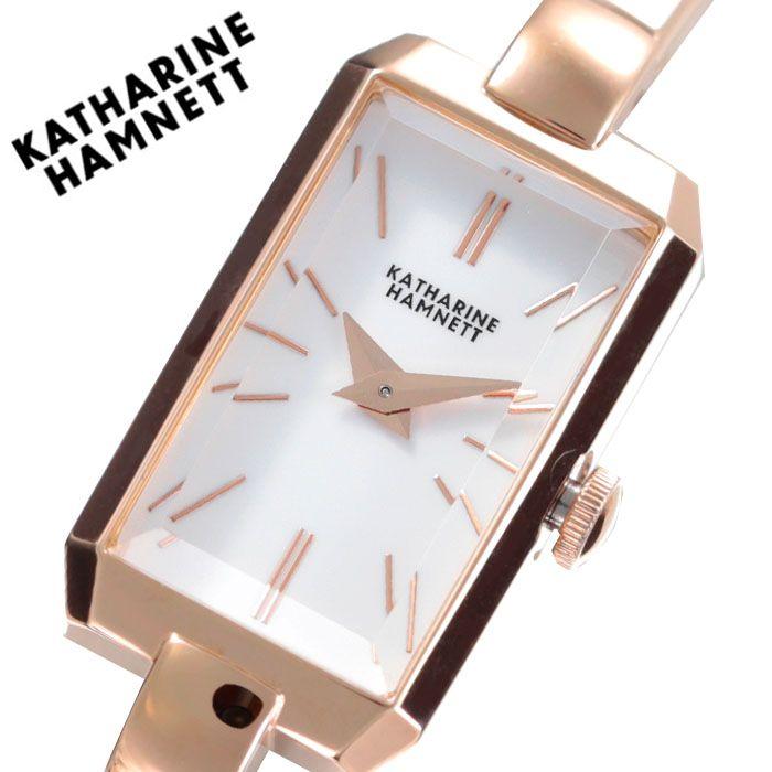 キャサリンハムネット 腕時計 KATHARINEHAMNETT 時計 キャサリン ハムネット KATHARINE HAMNETT レクタングル RECTANGLE レディース ホワイト KH87H8-B04 [ 正規品 人気 ブランド 日本製 JAPAN オシャレ アクセサリー ジュエリー かわいい かわいい 上品 シンプル スーツ ]