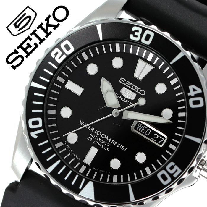 セイコー 腕時計 SEIKO 時計 リクラフト シリーズ RECRAFT SERIES ファイブスポーツ 5 SPORTS メンズ ブラック SNZF17J2 人気 ブランド 防水 カレンダー 自動巻 スケルトン おしゃれ ファッション カジュアル ビジネス プレゼント 父の日 ギフト