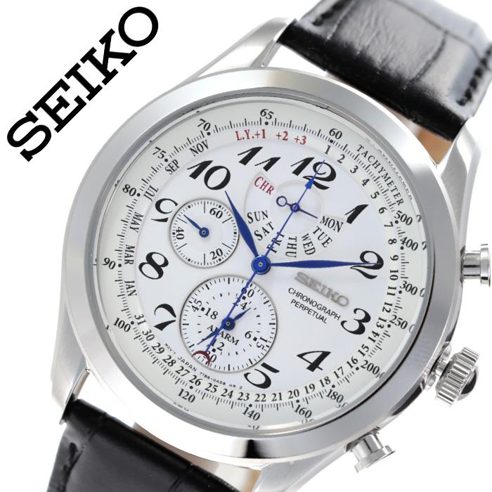 [当日出荷] セイコー 腕時計 SEIKO 時計 セイコー 時計 SEIKO 腕時計 メンズ ホワイト SPC131P1 海外セイコー 逆輸入 人気 ブランド 防水 アラーム カレンダー クロノグラフ おしゃれ ファッション カジュアル ビジネス スーツ おすすめ プレゼント ギフト 送料無料