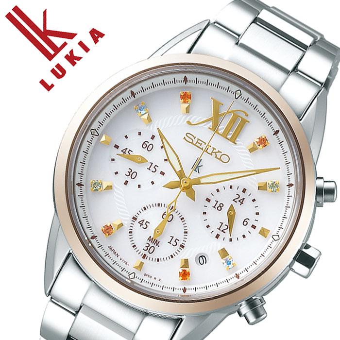 [当日出荷] 【5年保証対象】セイコー 腕時計 SEIKO 時計 セイコー時計 SEIKO腕時計 ルキア LUKIA レディース ホワイト SSVS042 [ 正規品 新作 人気 限定 ブランド ファッション おしゃれ カジュアル ソーラー クロノグラフ ストップウォッチ ジルコニア プレゼント ギフト ]