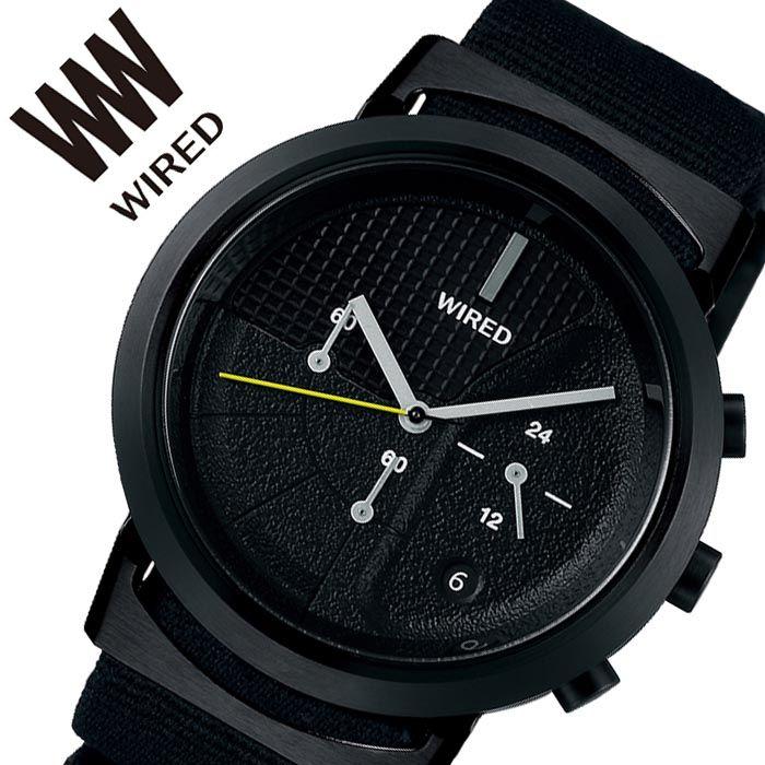 【5年保証対象】セイコーアルバ 腕時計 SEIKOALBA 時計 セイコー アルバ SEIKO ALBA ワイアード ツーダブタイプ 03 WIRED WW TYPE 03 メンズ ブラック AGAT433 人気 ブランド 防水 ストップウォッチ シンプル おしゃれ ストリート カラフル カジュアル 父の日 ギフト