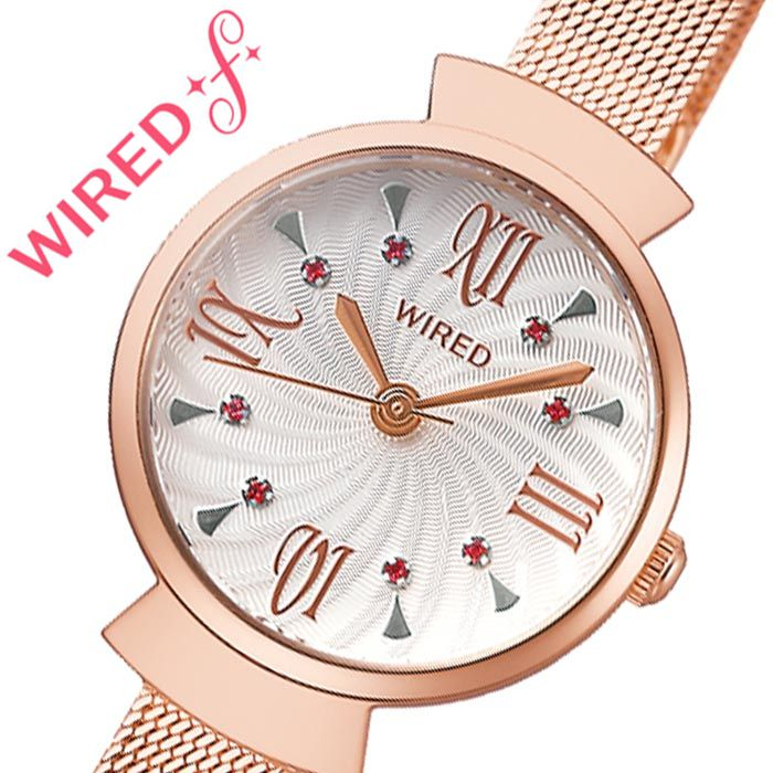 【5年保証対象】セイコー 腕時計 SEIKO 時計 ワイアード エフ WIRED f レディース ホワイト AGEK458 [ 人気 ブランド 防水 おすすめ シンプル ファッション おしゃれ かわいい 大人 キレイ カジュアル スーツ フォーマル ビジネス 上品 ]