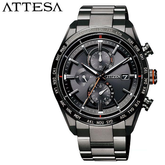 【5年保証対象】シチズン 腕時計 CITIZEN 時計 アテッサ ATTESA メンズ ブラック AT8185-62E 正規品 電波 人気 ブランド 防水 クロノグラフ 軽い 強い ワールドタイム ダイレクトフライト カレンダー アレルギー 仕事 スーツ プレゼント 父の日 ギフト