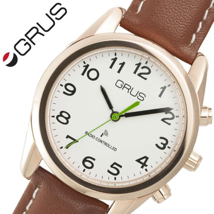グルス 腕時計 GRUS 時計 ボイス 電波 腕時計 ユニセックス メンズ レディース ホワイト GRS003-04 [ 人気 ブランド おすすめ ボイス電波時計 ボイスウォッチ トーキングウォッチ 音声報知機能全盲 弱視者 盲目 視覚障がい者用 年配 話す プレゼント ギフト ]