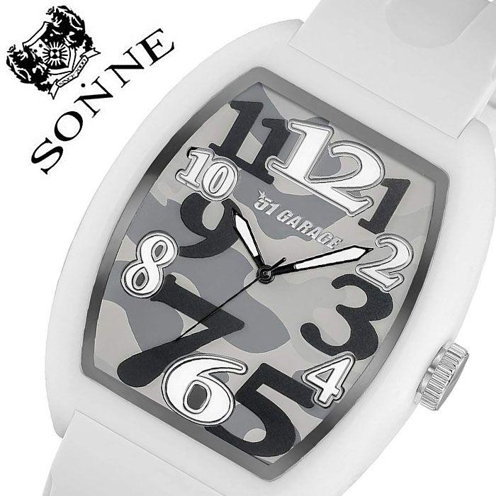 ゾンネ 腕時計 SONNEHAORI 時計 ゾンネ 時計 SONNE HAORI 腕時計 ハオリメンズ カモフラージュ H020WH-CM 正規品 新作 人気 ブランド 限定 コラボ スポーティー カジュアル アウトドア ラバー 光る ライト プレゼン 父の日 ギフト