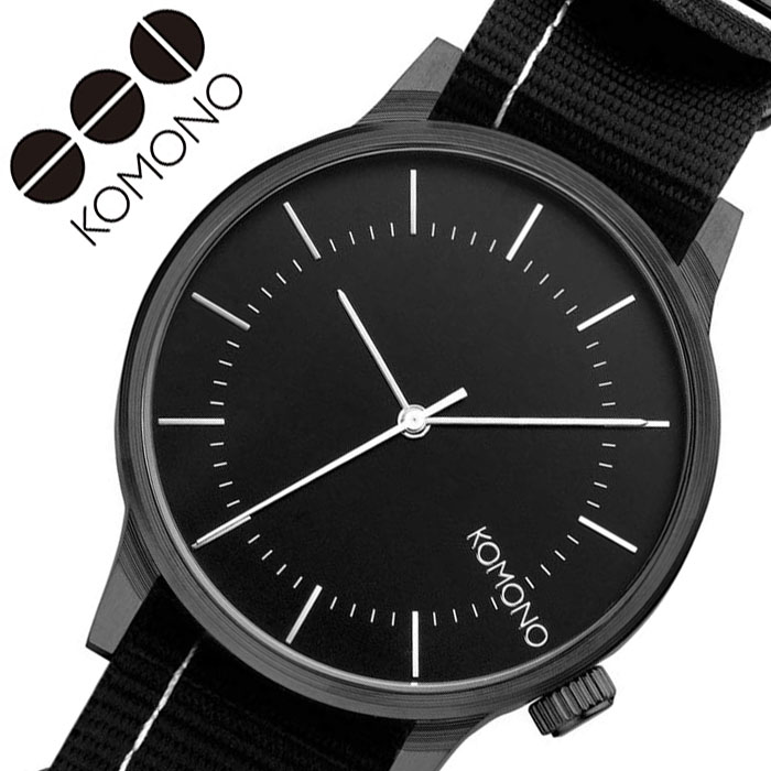 [当日出荷] コモノ 腕時計 KOMONO 時計 ウインストン リーガル WINSTON REGAL レディース ブラック KOM-W2272 [ 人気 ブランド おすすめ ファッション カジュアル おしゃれ 個性的 シンプル シック プレゼント ギフト ]送料無料