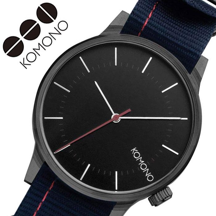 [当日出荷] コモノ 腕時計 KOMONO 時計 ウインストン リーガル WINSTON REGAL レディース ブラック KOM-W2274 [ 人気 ブランド おすすめ ファッション カジュアル おしゃれ 個性的 シンプル シック プレゼント ギフト ]送料無料