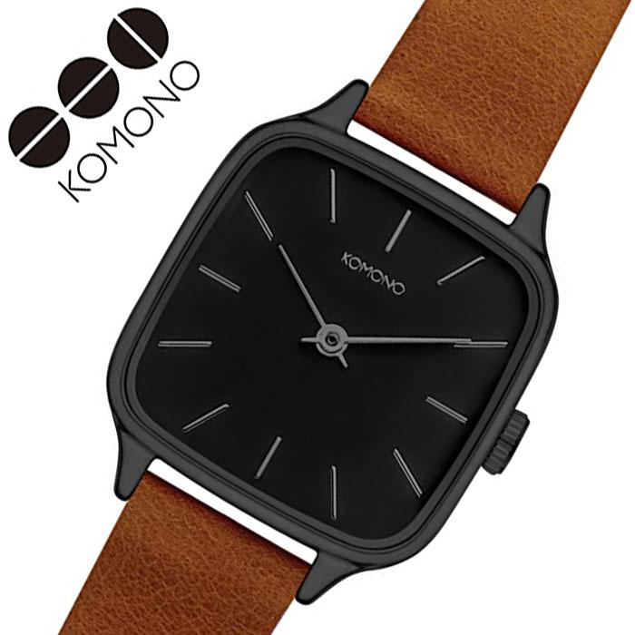 [当日出荷] コモノ 腕時計 KOMONO 時計 ケイト コニャック KATE COGNAC レディース ブラック KOM-W4250 [ 人気 ブランド おすすめ ファッション カジュアル おしゃれ 個性的 シンプル シック プレゼント ギフト ]