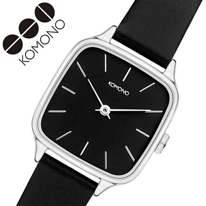 [当日出荷] コモノ 腕時計 KOMONO 時計 ケイト コニャック KATE COGNAC レディース ブラック KOM-W4252 [ 人気 ブランド おすすめ ファッション カジュアル おしゃれ 個性的 シンプル シック プレゼント ギフト ]