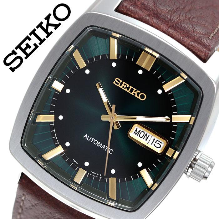 セイコー 腕時計 SEIKO 時計 リクラフト シリーズ RECRAFT SERIES メンズ グリーン SNKP27 人気 ブランド 海外限定モデル リクラフトシリーズ おすすめ ビジネス ファッション おしゃれ カジュアル スーツ カレンダー プレゼント 父の日 ギフト