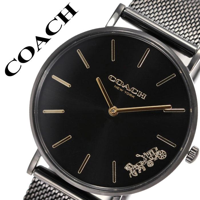 [当日出荷] コーチ 腕時計 COACH 時計 コーチ時計 COACH腕時計 ペリー PERRY レディース ブラック 14503339 [ 人気 ブランド おすすめ シンプル 華奢 薄型 軽量 上品 高級 おしゃれ カジュアル ファッション 流行 トレンド プレゼント ギフト ]送料無料