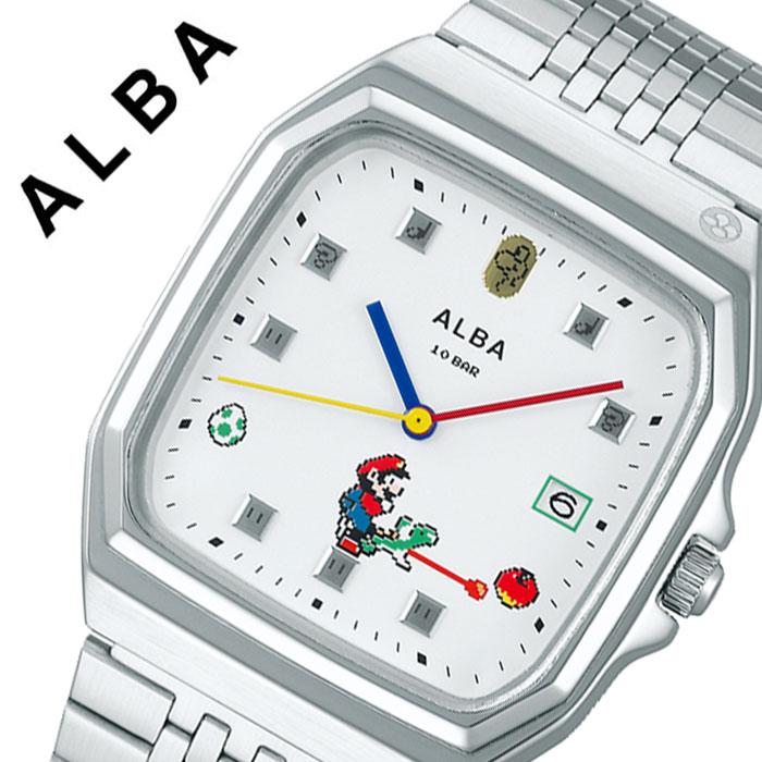 【5年保証対象】セイコー 腕時計 SEIKO 時計 アルバ ALBA メンズ ホワイト ACCK425 人気 ブランド カジュアル おしゃれ キャラクター ゲーム ファミコン スーパーマリオ マリオ レトロ レア プレゼント 父の日 ギフト