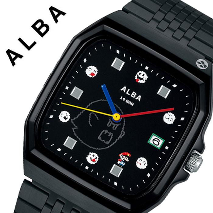 【5年保証対象】セイコー 腕時計 SEIKO 時計 アルバ ALBA メンズ ブラック ACCK426 人気 ブランド カジュアル おしゃれ キャラクター ゲーム ファミコン スーパーマリオ マリオ レトロ レア プレゼント 父の日 ギフト