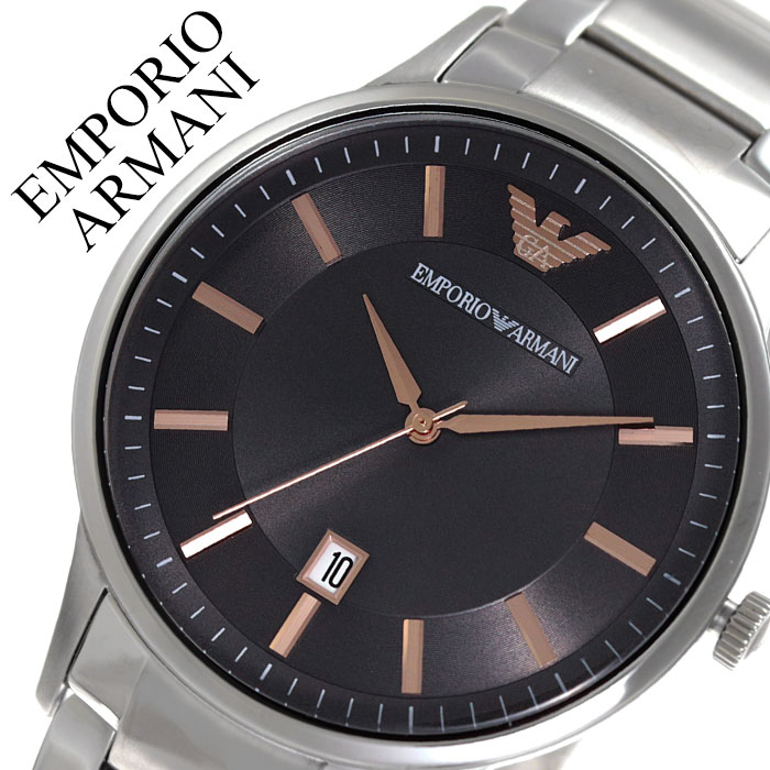 エンポリオアルマーニ 腕時計 EMPORIOARMANI 時計 エンポリオ アルマーニ EMPORIO ARMANI レナート Renato メンズ ブラック AR11179 人気 ブランド おしゃれ カジュアル フォーマル スーツ ビジネス カレンダー シンプル プレゼント 父の日 ギフト