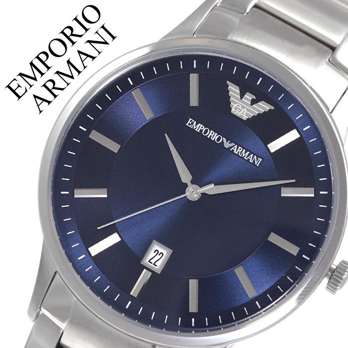 エンポリオアルマーニ 腕時計 EMPORIOARMANI 時計 エンポリオ アルマーニ EMPORIO ARMANI レナート Renato メンズ ブルー AR11180 人気 ブランド おしゃれ カジュアル フォーマル スーツ ビジネス カレンダー シンプル プレゼント 父の日 ギフト
