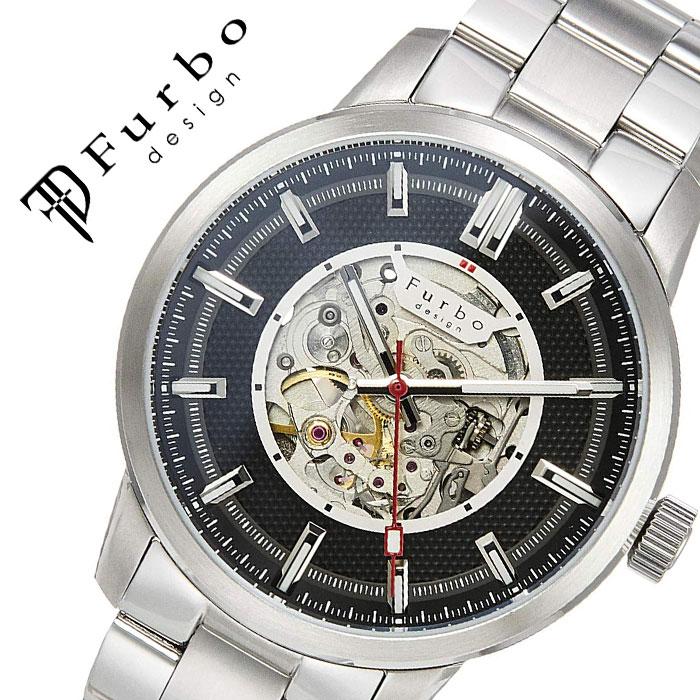 【5年保証対象】フルボデザイン 腕時計 Furbodesign 時計 フルボ デザイン Furbo design ポテンザ POTENZA メンズ ブラック F8203BKSS 人気 ブランド ファッション カジュアル スーツ ビジネス フォーマル スケルトン プレゼント 父の日 ギフト