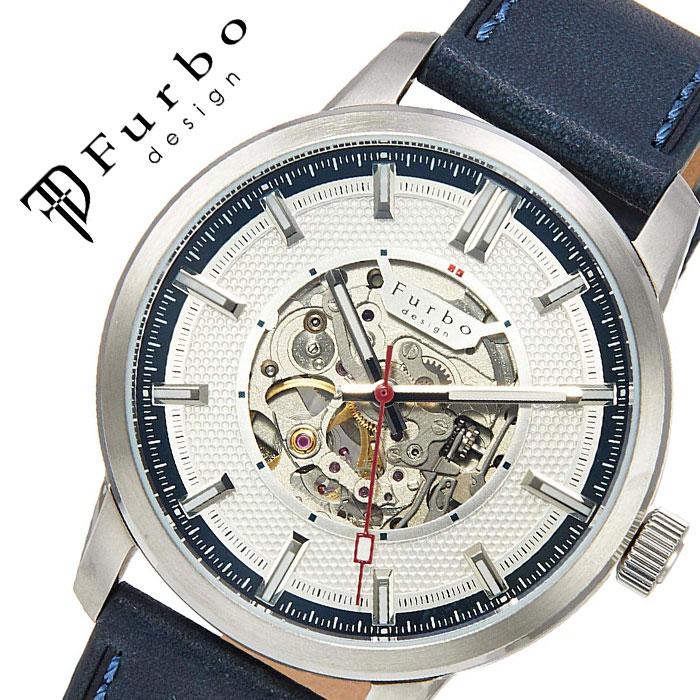 【5年保証対象】フルボデザイン 腕時計 Furbodesign 時計 フルボ デザイン Furbo design ポテンザ POTENZA メンズ ホワイト F8203SNVNV 人気 ブランド ファッション カジュアル スーツ ビジネス フォーマル スケルトン プレゼント 父の日 ギフト