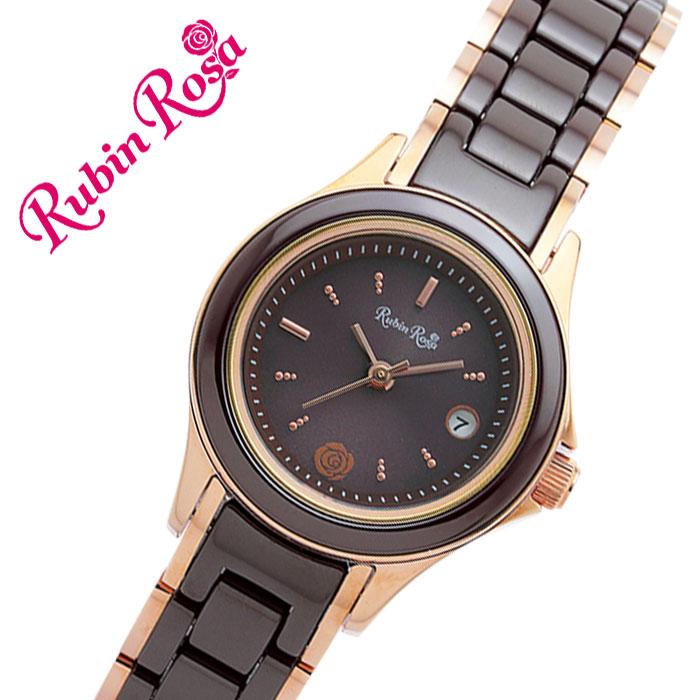 [当日出荷] 【5年保証対象】ルビンローザ 腕時計 RubinRosa 時計 ルビン ローザ 時計 Rubin Rosa 腕時計 レディース ブラウン R310PBR [ 人気 ブランド おしゃれ ファッション カジュアル かわいい ミニマル カレンダー ソーラー プレゼント ギフト ]送料無料