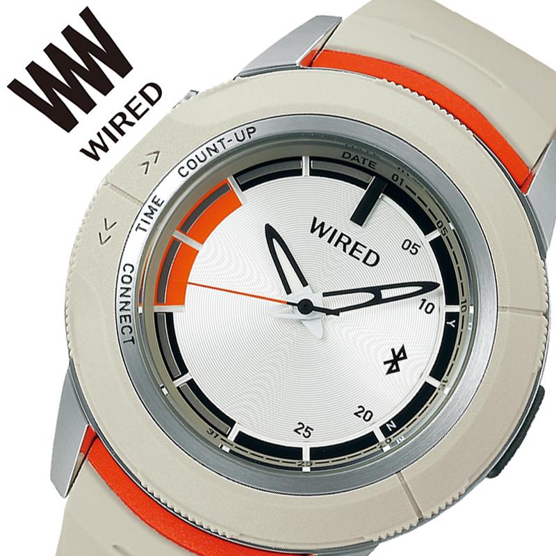 【5年保証対象商品】セイコー 腕時計 SEIKO 時計 ワイアード ツーダブ WIRED WW TYPE 04 メンズ ホワイト AGAB414 [ 正規品 人気 ブランド Bluetooth スマートフォン タイマー カレンダー 個性的 ストリート カジュアル おしゃれ 簡単 大きめ 大きい 誕生日 プレゼント ]